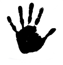 stock-vector-vector-concept-conceptual-cute-black-paint-human-hand-or-handprint-of-child-isolated-on-white-361287629